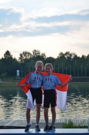 Silber Abteilungswertung 3000 m Leichtgewichts Doppelzweier 12-13 Jahre Melina Kleinke Maja Szurka