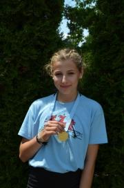 Silber Abteilungswertung 3000m Leichtgewichts Einer 14 Jahre Emma Birke